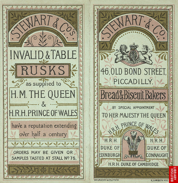 Advert for Stewart & Co, bread & biscuit makers